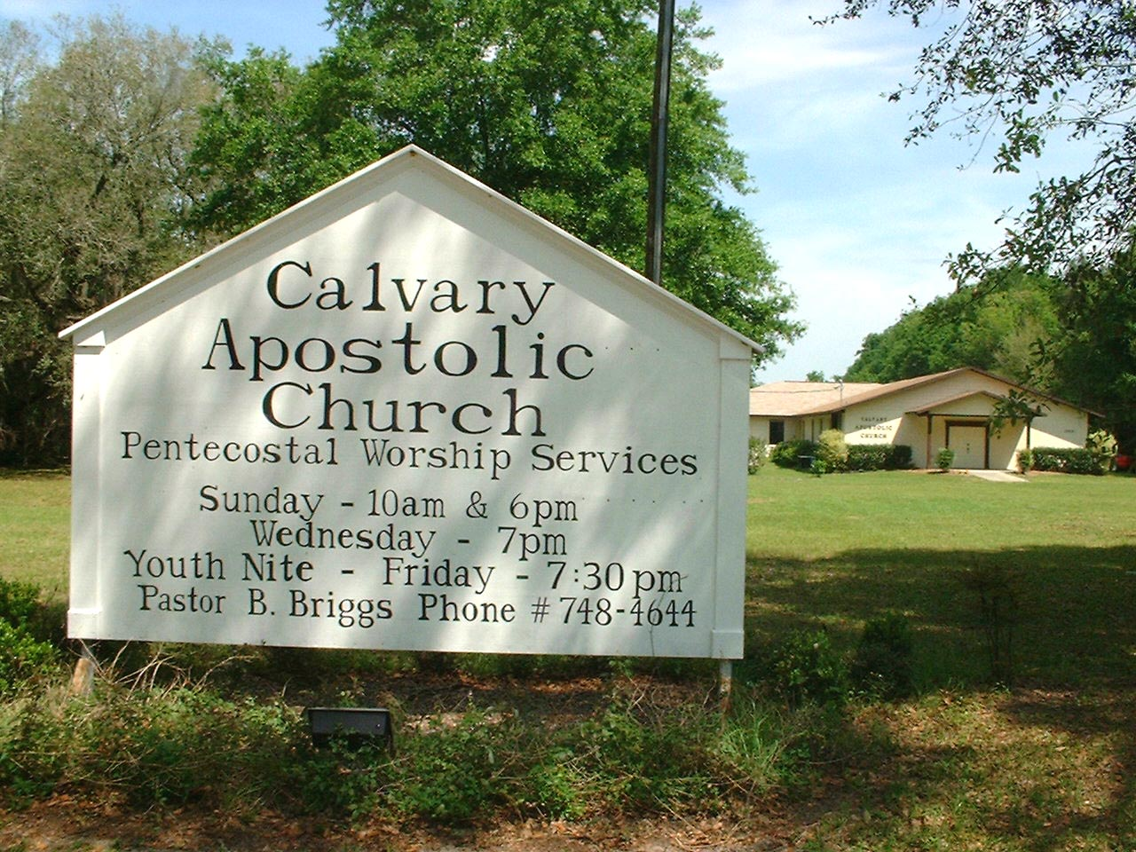 LINK to Calvary Apostolic Church - CLICK IT! --------------- GO ahead and try it! ---- you'll like it!